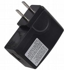 6W美规UL插墙式USB电子冰箱电源适配器
