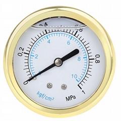 高質量的鍍金充油壓力表