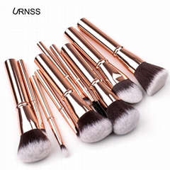 professional 10 pieces Makeup Brushes For Face And Eye Cosmetics