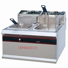 新粤海EF-904商用双缸双筛加厚电炸炉