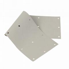 現貨供應高導熱矽膠布 芯片絕緣緩衝硅膠墊片