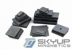 Industrial Application Y35 Arc Permanent Ceramic Block Ring Ferrite Magnet For S