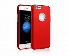 iPhone6金属键喷油TPU电镀按键银底橡胶手感超薄仿原手机壳