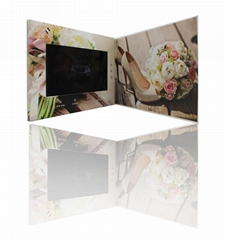 Chinese Homemade OEM tft lcd Video Invitation Wedding Cards Greeting Card