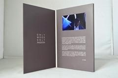 Shenzhen Factory Unique Design LCD Screen Video Hard Cover Invitation Cards