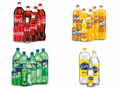 Coca-Cola Fanta Sprite Kinley Drinks in PET Bottles and Cans