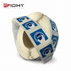 Roll Printing 13.56MHz HF Ntag215 RFID Smart Paper Label