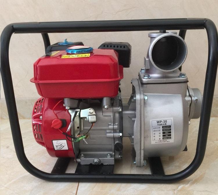 WP30新款红色铸铝汽油机 3寸小型农用园林灌溉泵家用抽水机自吸泵 2