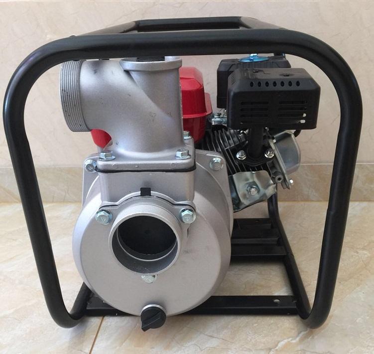 WP30新款红色铸铝汽油机 3寸小型农用园林灌溉泵家用抽水机自吸泵 3
