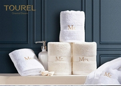 Luxury Plain Dyed Hotel Towel Set In Pakistan With Embroidery Logo