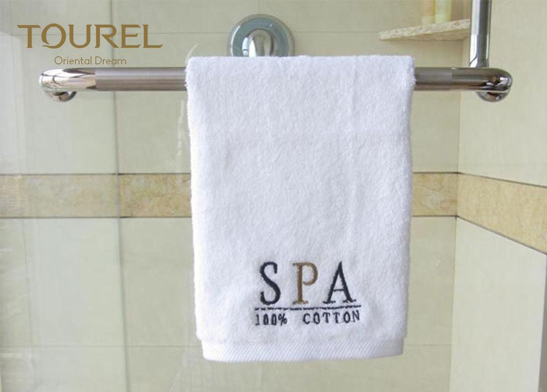 Rectangle 100% Cotton Hotel Towel Set Bulk Custom Logo White 5 Star Hotel Face T 1