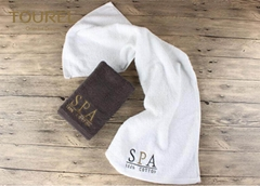 5 Star Colorful Luxury Hotel And Spa Bath Towels Jacquard Quick Dry Soft