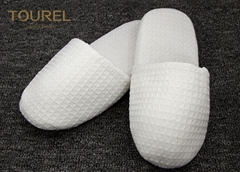 EVA Sole Waffle Indoor Disposable Hotel Slippers With Custom Logo