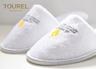 Light Soft White Cheap Disposable Slippers For Guests Unisize 2