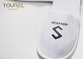 Embroidery Logo Hotel Guest Slippers Bedroom Velour For Men 2