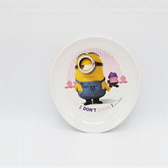 """Minla 8.5""""oval plate baby sets melamine dishes"""