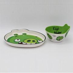 "5.5""round bowl melamine soup plate"