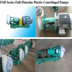 FSB Series Fluorine plastic FEP(teflon)Alloy centrifugal pump