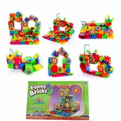 Gear box brick toys