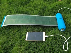 Multi-function Solar Chager Solar Power Bank with LED light for Mobile phone