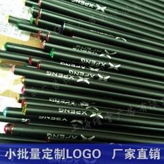 现货定制高级黑木铅笔hb定制logo
