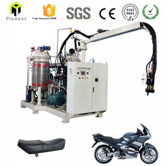 polyurethane foam fill tire equipment for motorcycle seat