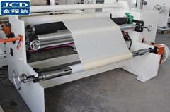 High speed masking tape jumbo roll rewinding machine