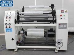 Semi-auto stretch film jumbo roll slitter rewinder machine