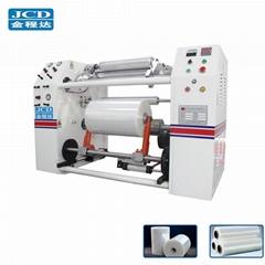 Automatic PE PVC stretch film slitting and rewinding machine