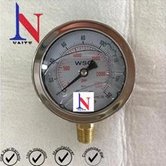 Water Working Media Hydraulic Pressure Gauge Instrument