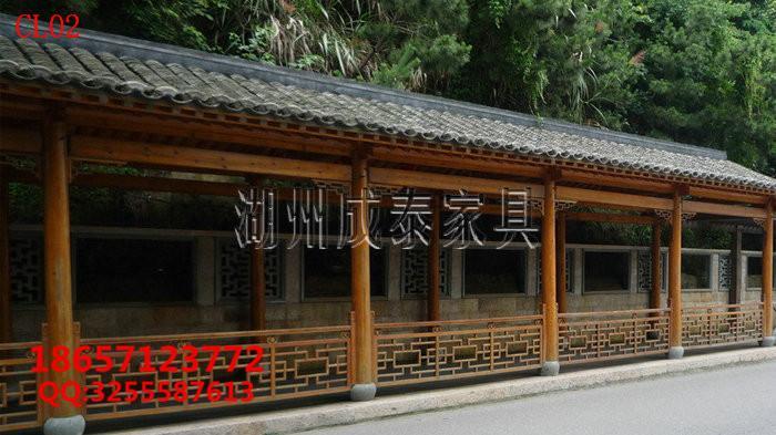 防腐木古建长廊 3