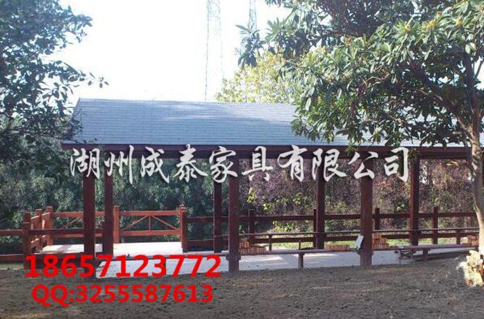 防腐木古建长廊 4