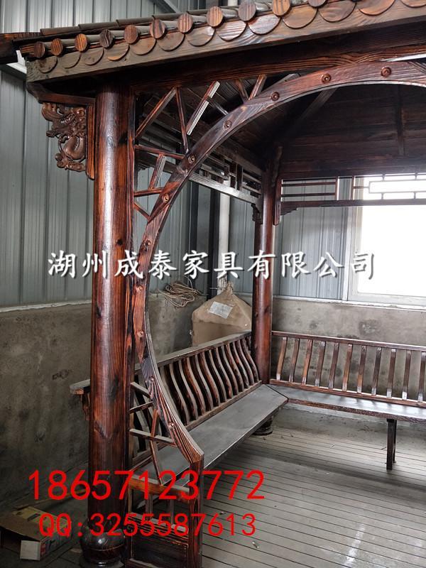 新农村建设-防腐木-户外家具凉亭 4