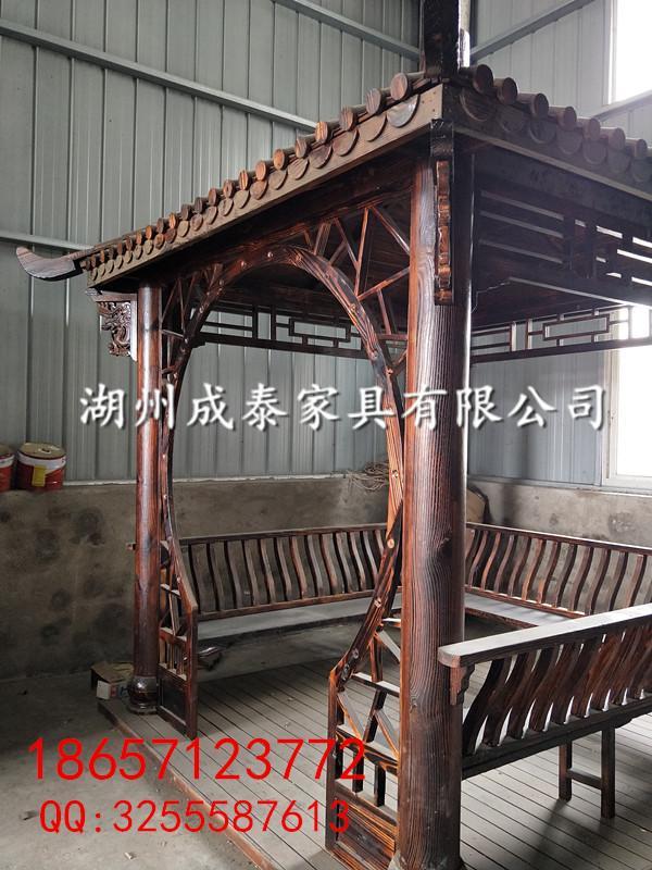 新农村建设-防腐木-户外家具凉亭 5