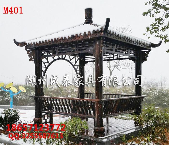 新农村建设-防腐木-户外家具凉亭 1