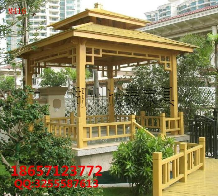 防腐木现代凉亭 1
