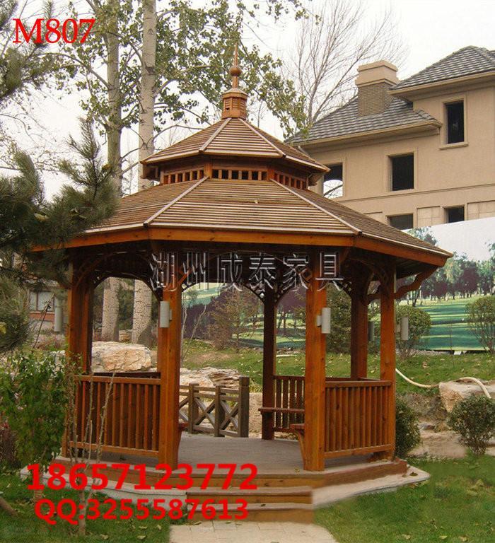 防腐木现代凉亭 3