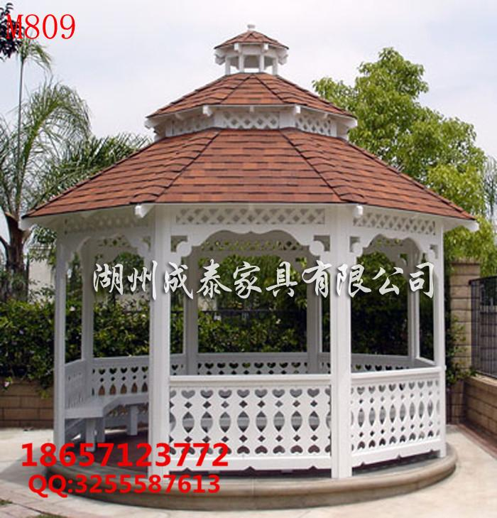 防腐木现代凉亭 4