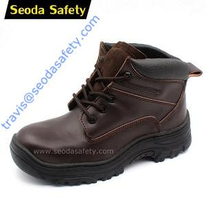 Crazy horse leather safety shoes 1