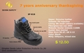 Fiberglass toe cap safety shoes