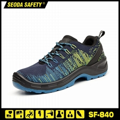 Flyknit Fabric PU Sole Safety Work Boots with Safety Toe