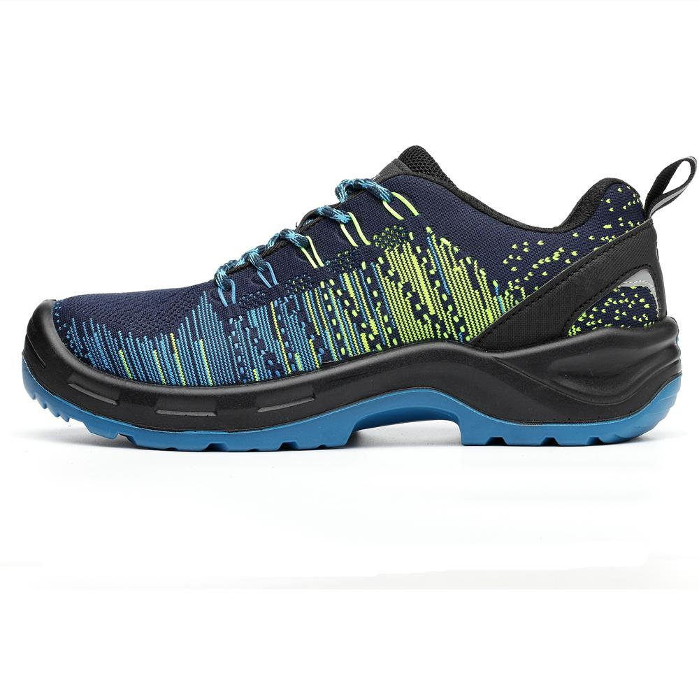 Flyknit Fabric PU Sole Safety Work Boots with Safety Toe 2