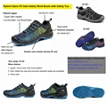 Flyknit Fabric PU Sole Safety Work Boots with Safety Toe 5