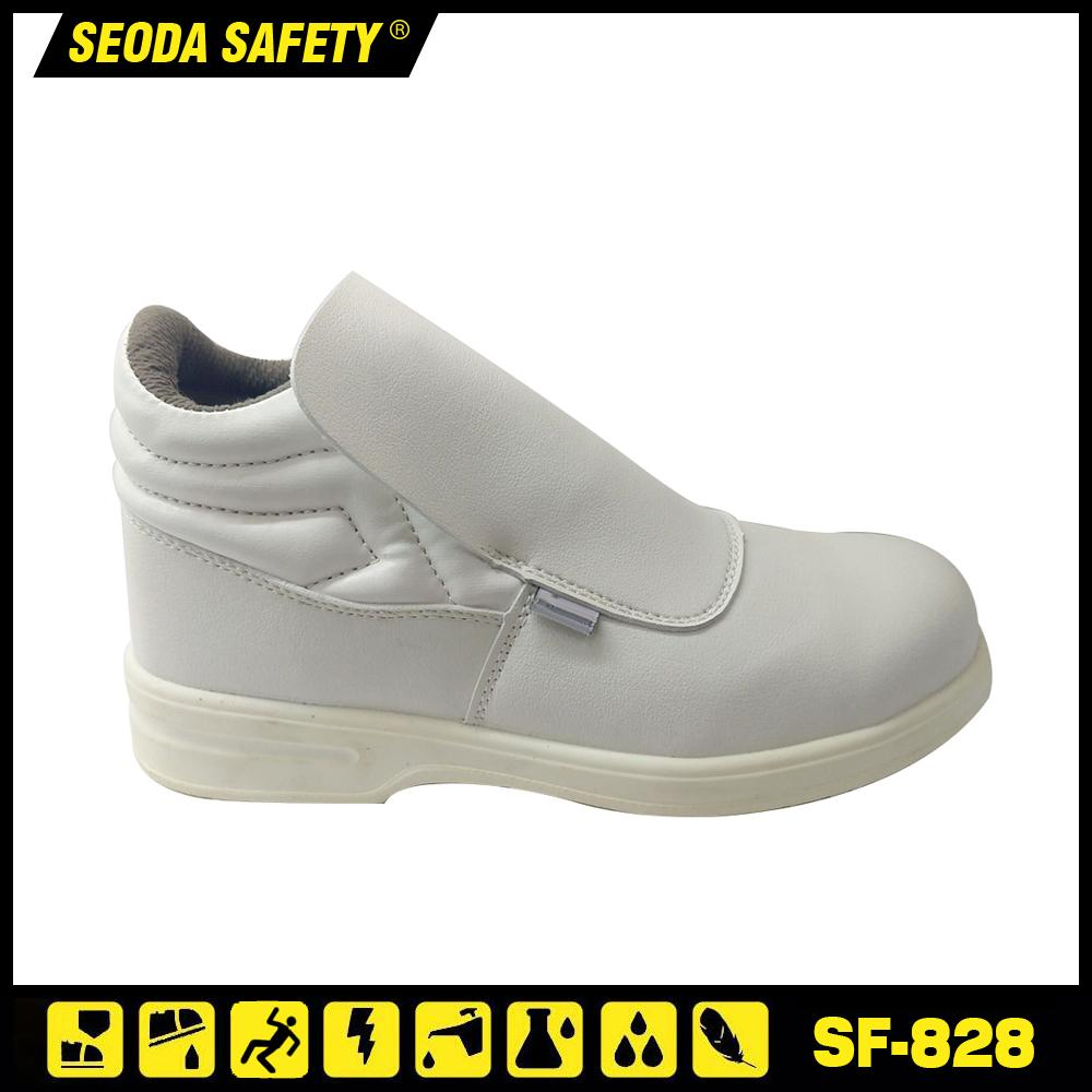 White Anti Static ESD Steel Toe Safety Shoes 1