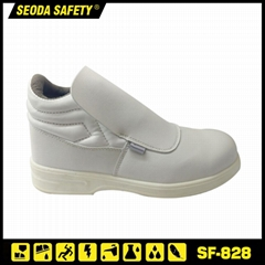 White Anti Static ESD Steel Toe Safety Shoes