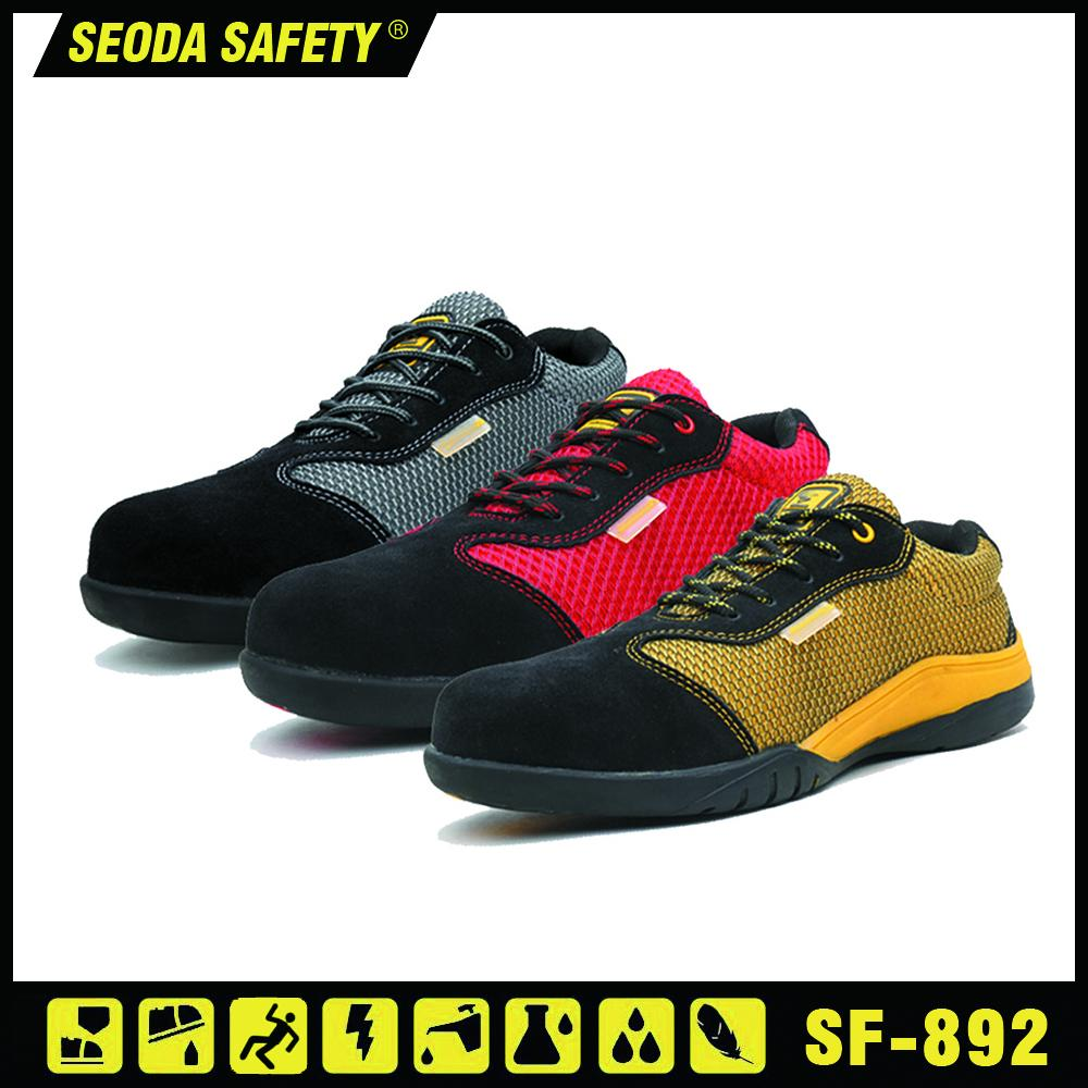 Suede Mesh Leather Safety Working Shoes (sf-890) 3