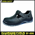 Genuine Leather Low Cut Safety Shoes with Hook&Loop (SF-896) 1