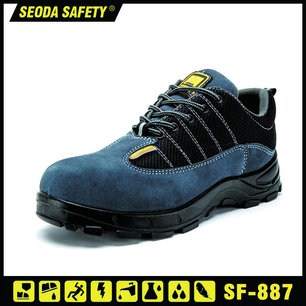 Suede Leather Mesh Safety Work Boots 1