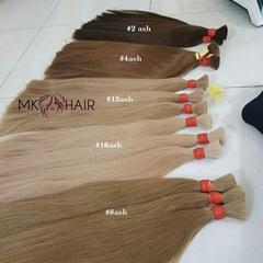 Ash color hair