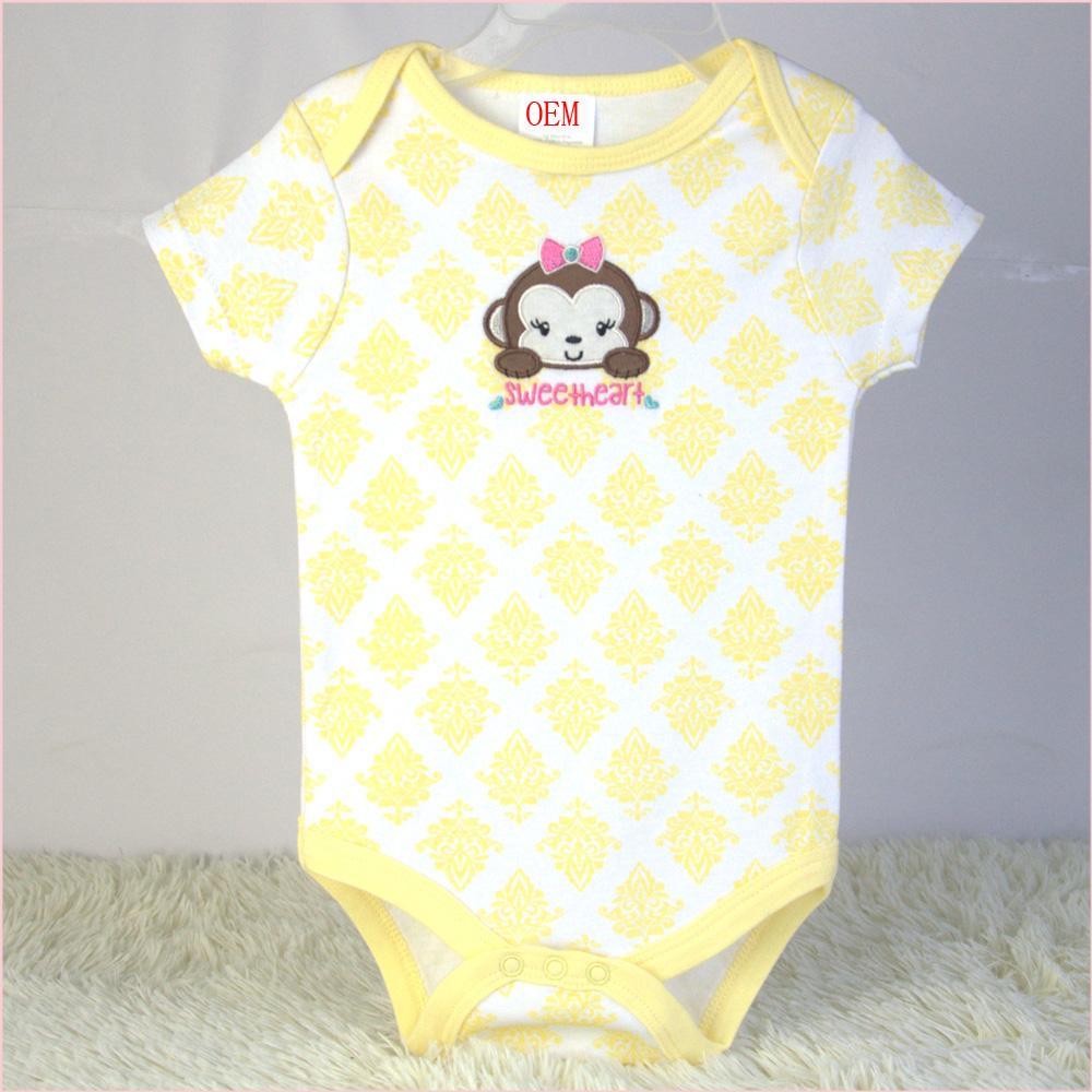 newborn baby bodysuits 3 pk set OEM factory China 2